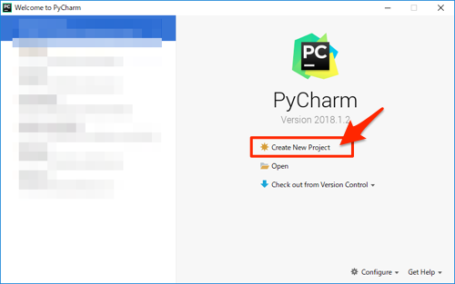 pycharm create project