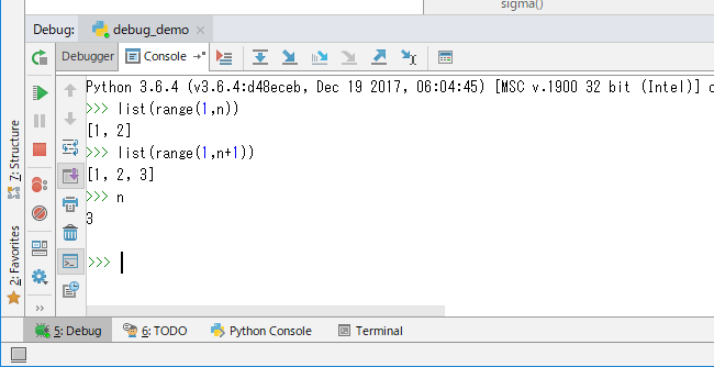 pycharm degub intermode