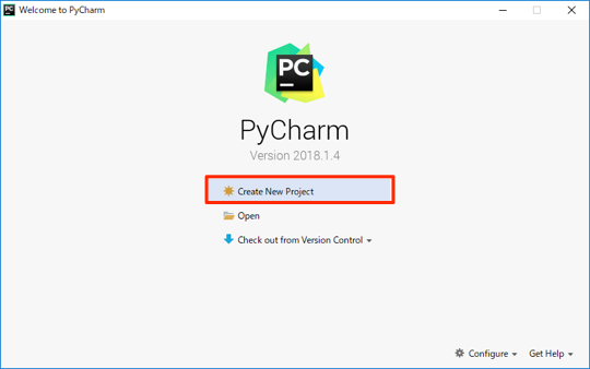 pycharm create new project