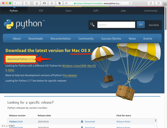 python download site mac