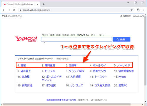 yahoo realtime